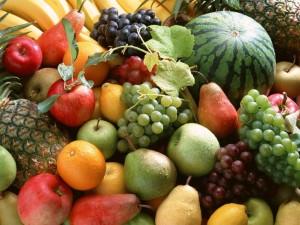 Foto com grande variedades de frutas
