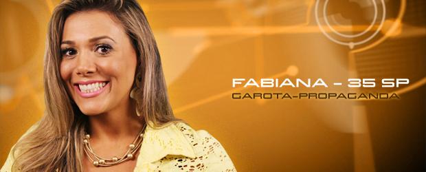 Foto de divulgação do BBB12 mostrando Fabiana Teixeira