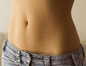 barriga feminina reta