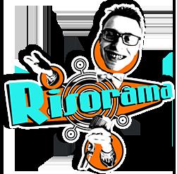 Logo do Risorama. Que é a parte comica do festival de teatro de curitba