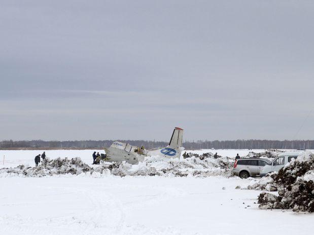 Avião caiu na região da Sibéria