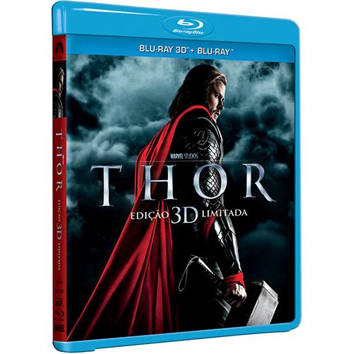 Capa do filme em Blu Ray Thor 3D.