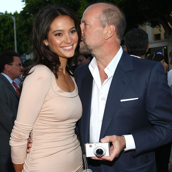 Emma Heming e o ator Bruce Willis